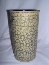 BBP Beaumont Brothers Pottery spongeware salt glaze blue Utensil wine Crock