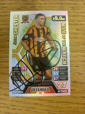 2013/2014 Autograph: Hul City - Chester, James - Silver Man Of The Match Card [H