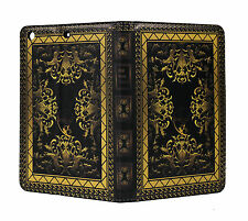 iPad mini 1 2 3 4 5 Classic Vintage Old Book Smart Stand Case Cover Sleep Wake +