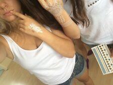 Gold Flash Tattoos und weiss für Arm Hand Finger Faketattoo Doppelset MT017W337
