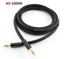 "6ft Premium Pro 3.5mm (1/8"") Stereo Audio Neutrik Male/Male Net Sleeve Cable"