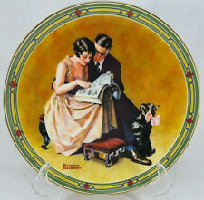 Craftsmanship Collector Plate Norman Rockwell A Couple'S Commitment 1985 with Ca