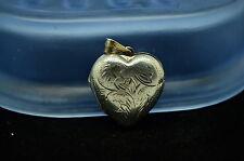 SILVER PLATED FILIGREE HEART LOCKET PENDANT CHARM #X14641
