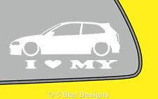 2x LOVE LOW Mitsubishi Colt Mirage cyborg 5th Silhouette stickerdecal LR338