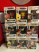 Joblot Collection Of 9 Funko Pop Figures CRASH BANDICOON + THE SIMPSONS + OTHER