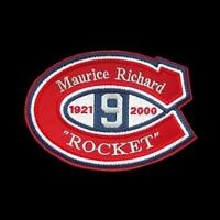 NHL MEMORIAL PATCH FOR MAURICE RICHARD ROCKET MONTREAL CANADIENS