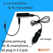 FM Transmitter 3.5mm Jack USB Car Radio Charger for HTC Samsung iPhone iPod