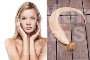 100 Strähnen / 1 Gramm / dicke Echthaar Extensions Haarverlängerung 45cm 1g Haar