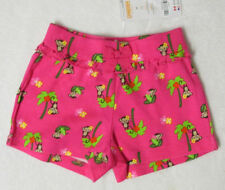 NWT Girls 2T Gymboree WILD FOR ZEBRA Pink Monkey & Palm Tree Knit Shorts