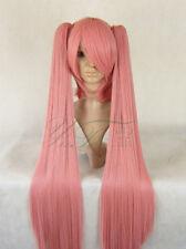 Vocaloid 2 Miku perruque wig cosplay rose 120 cm Long Long Foncé Rose