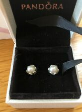 Pandora Pearl stud earrings, Silver, *Brand New in Box* with Certificate