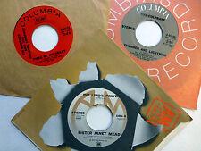 Mujer Hippy Lote de 3x45 Rpm Rock Pop Chi Coltrane Janis Joplin Dm813