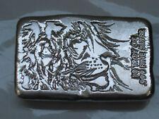 10 oz .999 Poured Silver Bar - Atlantis Mint Incuse Lion