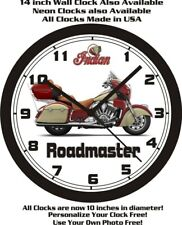 2015 INDIAN ROADMASTER MOTORCYCLE WALL CLOCK-FREE USA SHIP!