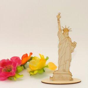 14cm Freiheitsstatue New York Miss Liberty Holzfigur Statur Dekoration USA Reise