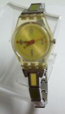 SWATCH Multi Colored Enamel Band Watch