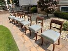 Set of 6 Antique Georgian Regency Era Dining Chairs Early 1800's Made in Ireland