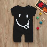 Toddler Infant Baby Boys Cartoon Print Short Sleeve Jumpsuit Romper Playsuit