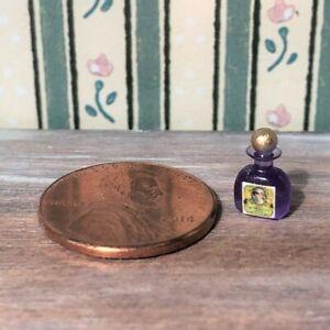 Dollhouse miniature Beauty 1:12 Vintage Label Bottle of Lavender Smelling Salts