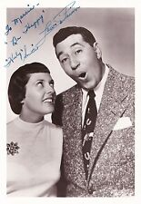 Louis Prima / Keely Smith  Autograph , Original Hand Signed Photo
