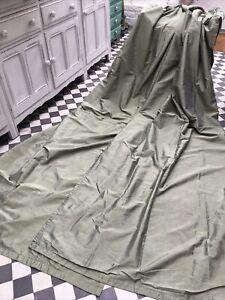 """Beautiful sage green Dupion  Pure  Silk Curtains 39""""W x94"""" L, 100 x 239cm"""