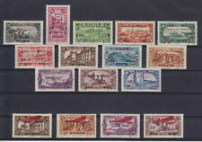 "SYRIE SYRIA 1926, ""SECOURS DE REFUGIES"" OPT. SETS OF 12 & 4, MOSTLY MLH"