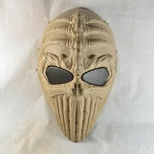 Simple Airsoft Paintball Full Face Protection Spine Skull Mask Halloween JD48