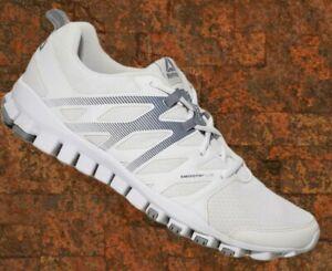Reebok Realflex Train 4.0 Mens 12.5 Running Jogging Athletic Sneakers White Gray