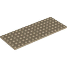 8x LEGO® 3460 1x8 Platte beige sandfarben tan NEU