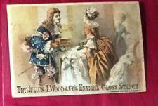 ADVERTISING TRADE CARD Julius J Wood Enamel Gloss Starch