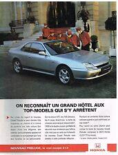 Publicité Advertising 1997 Le Coupé Honda Prélude