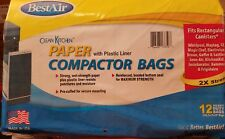 BestAir Trash Compactor Bags 2 Ply 9×17×16 pack of 12. Paper with Plastic Liner