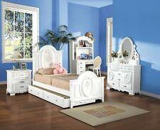 Acme Furniture Flora Twin Panel 7 Piece Trundle Bedroom Set