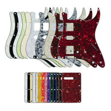 Strat Guitar HSH Pickguard Humbucker 11Hole Pick Guard + Back Plate + Screws Set