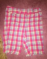 Tracy Evans Limited Plaid Pink Shorts Sz 9