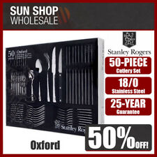 100% Genuine! STANLEY ROGERS Oxford 50 Piece Cutlery Set! RRP $199.00!