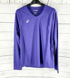 ASICS Womens Circuit 8 Warm-Up Long Sleeve Shirt, V Neck XS, S, M, L, XL, XXL