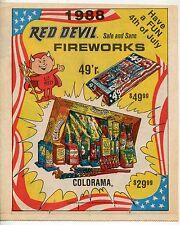 """1988 Vintage Sales Catalog Brochure: """"RED DEVIL FIREWORKS"""""""