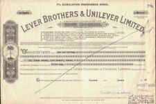 UK / GB / NETHERLANDS : LEVER BROTHERS & UNILEVER LIMITED dd 1949