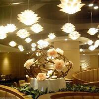 LED Lotus Chandelier Modern Ceiling Light Lamp Pendant Fixture Bedroom Lampshade