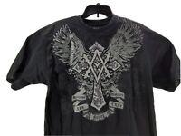 Avirex Men's Size Large Black Short Sleeve Trademark Embroidered Graphic T-Shirt