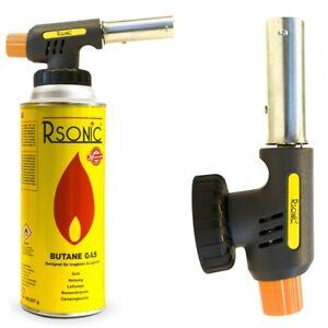 Bunsenbrenner Double 2in1 Flammspritzpistole Gaskartusche Butan Gas Lötbrenner