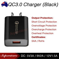 Qualcomm Quick Charge QC 3.0 Wall Charger AU for Universal PHONE Fast USB 18W