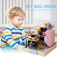 DIY Doll House Wood Miniature Dollhouse Furniture Kit Educational Toys Xmas Gift