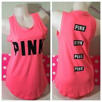 NWT VICTORIA'S SECRET ~PINK~ SLEEVELESS  GRAPHIC TEE SHIRT SIZE XS