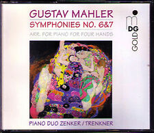 Duo ZENKER & Trenkner: MAHLER SYMPHONY NO. 6 & 7 ARR. 2 pianoforti pianoforte Duo 2cd ORO