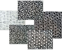 Fabric, Black & White Kaufman, 3 Prints to Choose From, By the HALF Yard