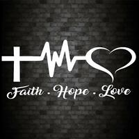 FAITH HOPE LOVE Sticker Funny Car Van Bike JDM Window Bumper Novelty Vinyl DecaL