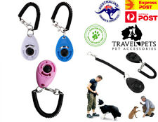 Pets Dog Puppy Animal Click Clicker Training Obedience Trainer Aid Wrist Strap