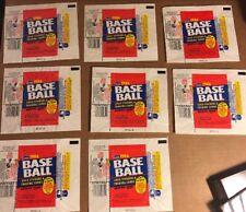 Fleer Baseball Wax Wrappers, 1986, 8 Total